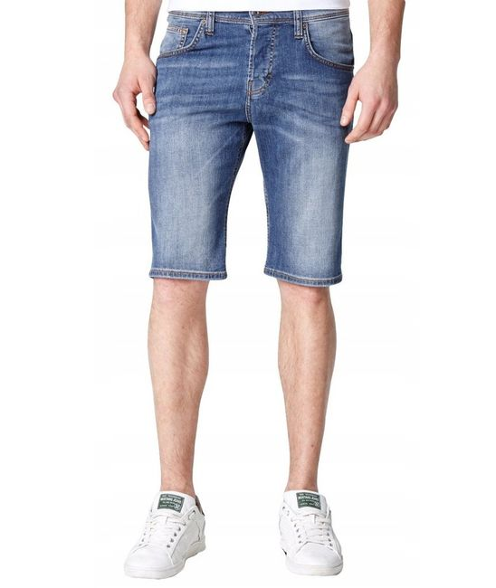 Mustang Herren Chicago Short, W28 -to- W36 / stone washed