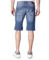 Mustang Herren Chicago Short, W28 -to- W36 / stone washed 2
