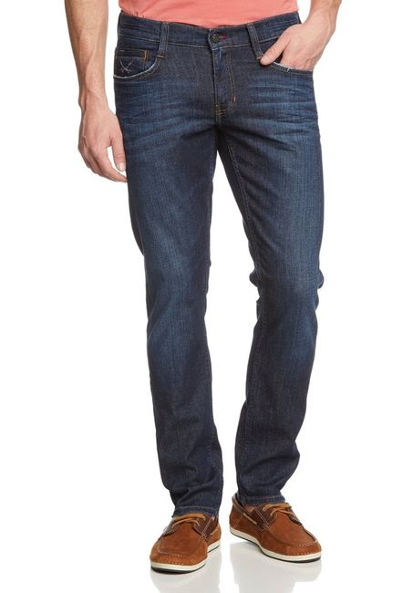 Sansibar by Mustang Raven Tapered Jeans , W30 - to - W36 **WOW** / dark rinsed used