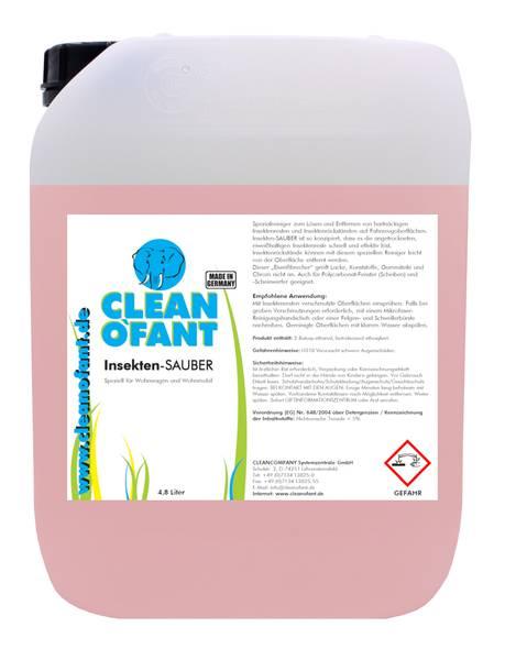 CLEANOFANT Insekten-SAUBER (Insektenentferner) - 4,8 Liter