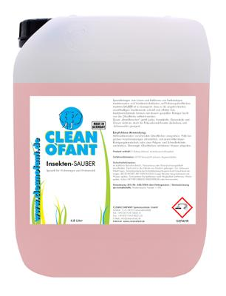 CLEANOFANT Insekten-SAUBER (Insektenentferner) - 4,8 Liter – Bild 1