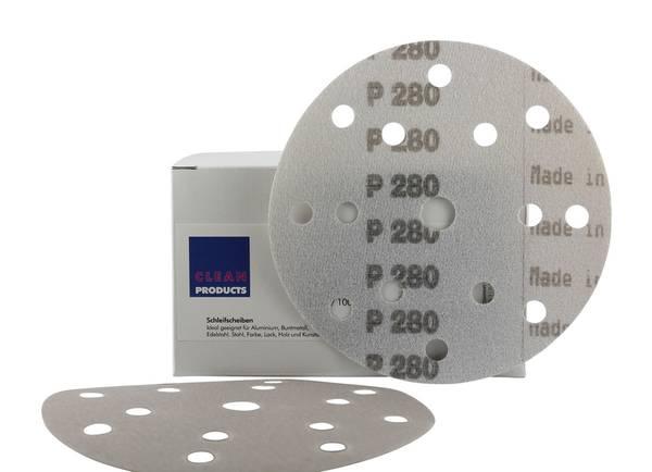 CLEANPRODUCTS P280 150 mm Schleifscheiben Folie (15 Loch, Klett) – Bild 3