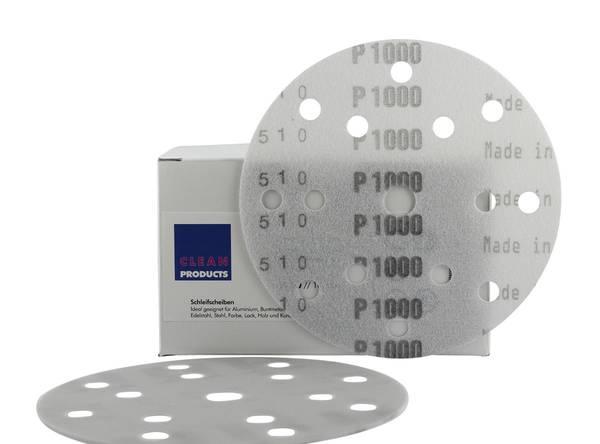 CLEANPRODUCTS P1000 150 mm Schleifscheiben Folie (15 Loch, Klett) – Bild 1