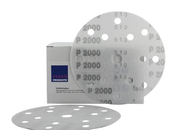 CLEANPRODUCTS P2000 150 mm Schleifscheiben Folie (15 Loch, Klett) – Bild 1