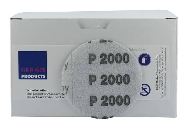 CLEANPRODUCTS P2000 75 mm Schleifscheiben Folie (ungelocht, Klett)