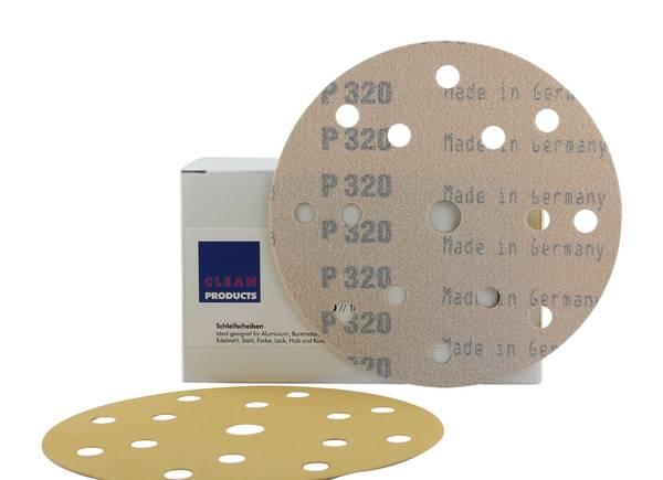 CLEANPRODUCTS P320 150 mm Schleifscheiben Papier (15 Loch, Klett) – Bild 1