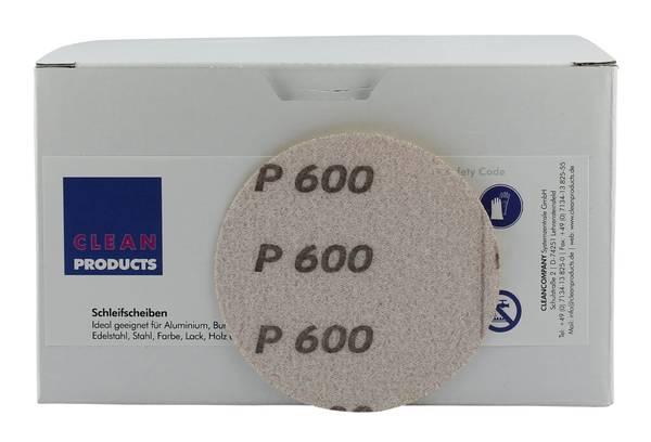 CLEANPRODUCTS P600 76 mm Schleifscheiben Papier (ungelocht, Klett) – Bild 4