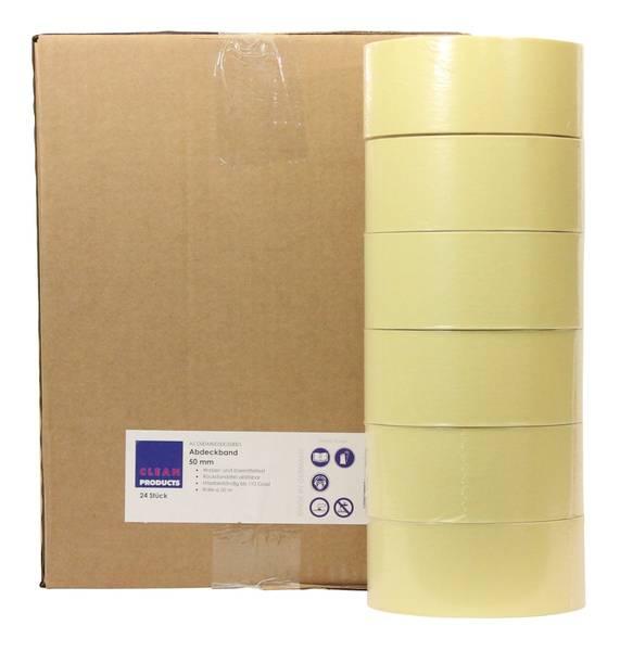 CLEANPRODUCTS Abdeckband-Klebeband 50 mm x 50 m, bis 110 Grad - 24 Stück – Bild 1