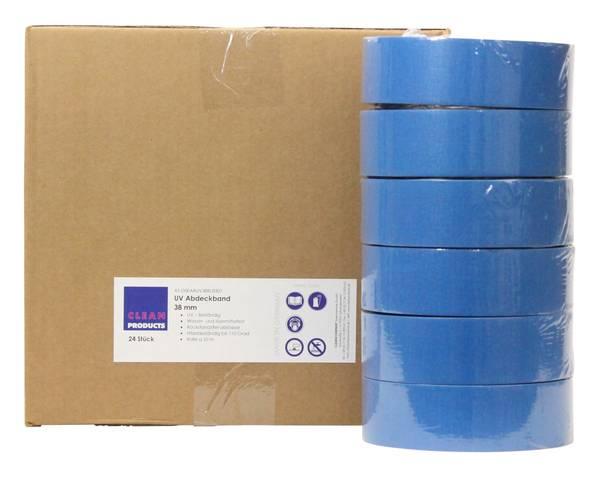 CLEANPRODUCTS UV-beständiges Abdeckband-Klebeband 38 mm x 50 m, bis 110 Grad - 24 Stück – Bild 1