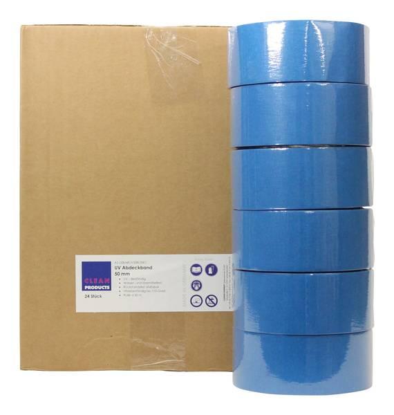 CLEANPRODUCTS UV-beständiges Abdeckband-Klebeband 50 mm x 50 m, bis 110 Grad - 24 Stück – Bild 1