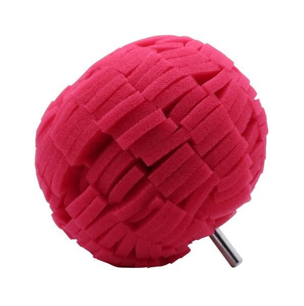 CLEANEXTREME Polier-Schwamm-Ball 100 mm - Polieraufsatz - Reinigungs-Schwamm für Bohrmaschine und Akkuschrauber - 1 Stück – Bild 1