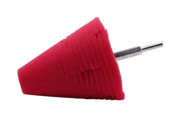 CLEANEXTREME PROFI Polier-Schwamm Fine-Finish Rot - Polieraufsatz - Reinigungs-Schwamm für Bohrmaschine und Akkuschrauber - 1 Stück – Bild 1