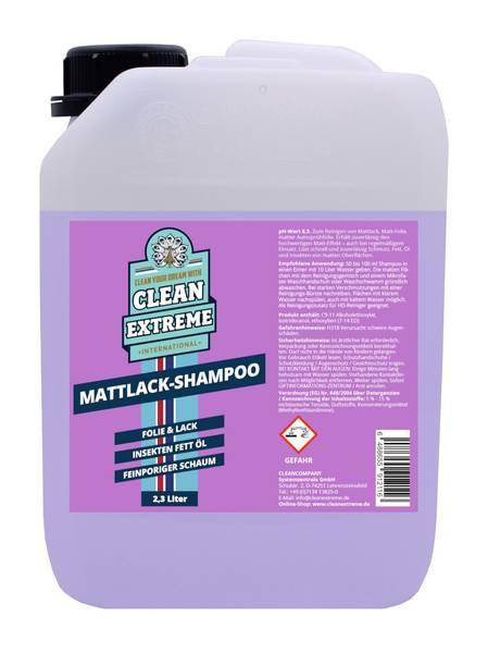 CLEANEXTREME Mattlack Auto-Shampoo Folie & Lack - Konzentrat - 2,3 Liter – Bild 1