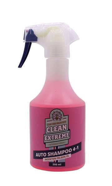 CLEANEXTREME Autoshampoo 4-in-1: Shampoo-Insekten-Felgen-Öl - 500 ml – Bild 1