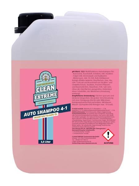 CLEANEXTREME Autoshampoo 4-in-1: Shampoo-Insekten-Felgen-Öl - 2,3 Liter – Bild 1