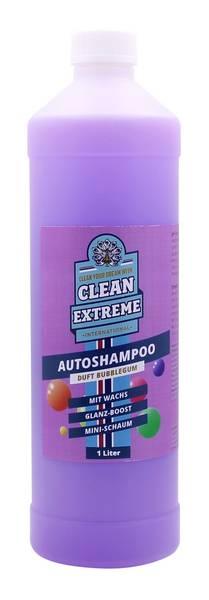 CLEANEXTREME Autoshampoo Konzentrat BUBBLEGUM mit Wachs 1 Liter – Bild 1