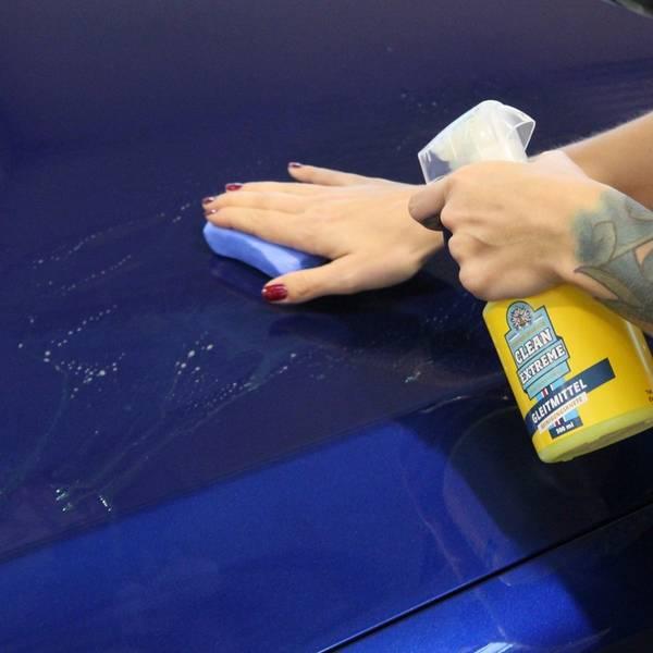 CLEANEXTREME Reinigungsknete BLAU Fein - 100g in der Box (Industrieknetmasse)  – Bild 7