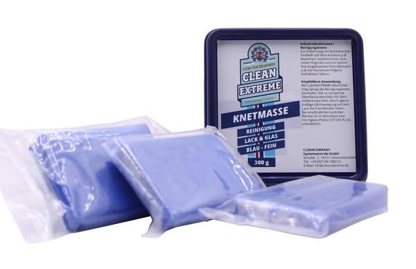 CLEANEXTREME Reinigungsknete BLAU Fein - 3 x 100g in der Box (Industrieknetmasse)  – Bild 1