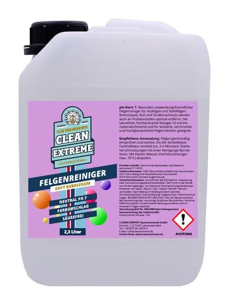 CLEANEXTREME Felgenreiniger P redblue BUBBLEGUM Säurefrei pH-neutral mit Farbumschlag 2,3 Liter (Alufelgenreiniger) – Bild 1
