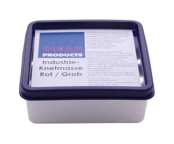 CLEANPRODUCTS Polierknete ROT Grob 100g in der Box (Reinigungsknete) – Bild 5