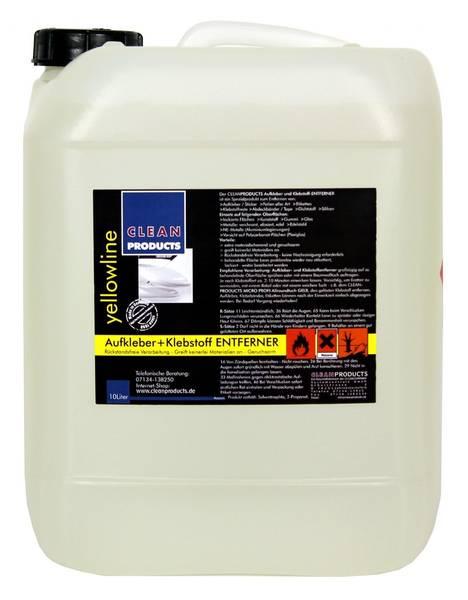 CLEANPRODUCTS Aufkleber + Klebstoff-Entferner - 10 Liter