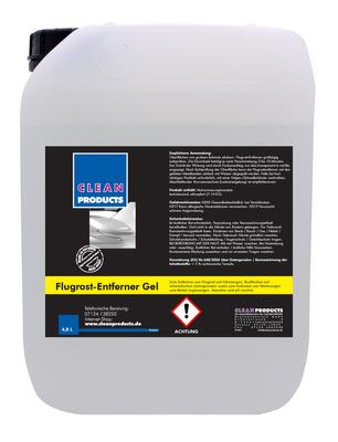 CLEANPRODUCTS Flugrost-Entferner Gel - Säurefrei - pH-neutral - 4,8 Liter