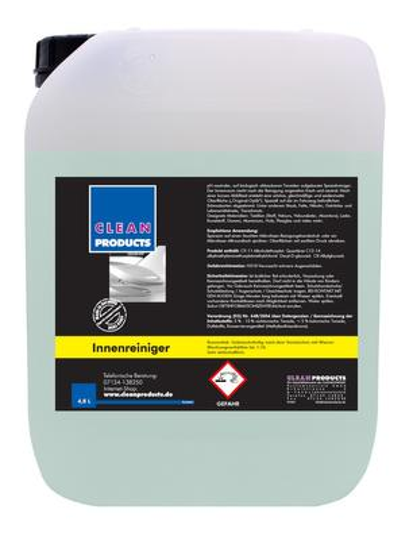 CLEANPRODUCTS Fahrzeug-Innenreiniger Konzentrat - 4,8 Liter – Bild 1