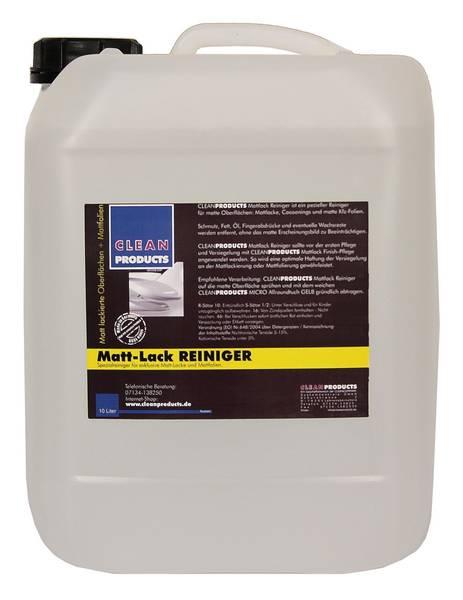 CLEANPRODUCTS Mattlack + Mattfolie Reiniger - 10 Liter