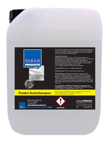 CLEANPRODUCTS Protect Autoshampoo (Konzentrat mit Wachs) - 4,8 Liter – Bild 1