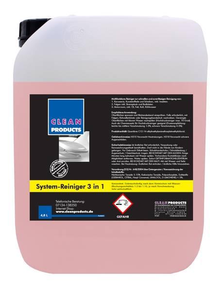 CLEANPRODUCTS Fahrzeug-Außen-Reiniger 3 in 1 (Konzentrat) - 4,8 Liter – Bild 1