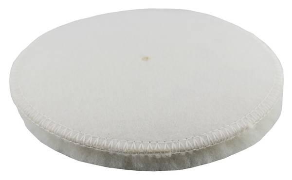 CLEANPRODUCTS Lammfell-Polierpad Weiß 133 mm - 6 Stück – Bild 3