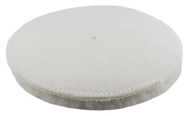 CLEANOFANT Lammfell-Polierpad Weiß 133 mm - 1 Stück – Bild 2