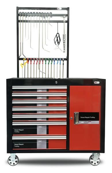 HBC Ausbeulhebel System PDR Ausbeul Trolley