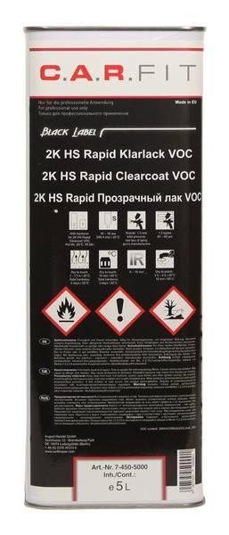 C.A.R.FIT 2K HS Rapid Klarlack VOC 2:1 - 5 L – Bild 1