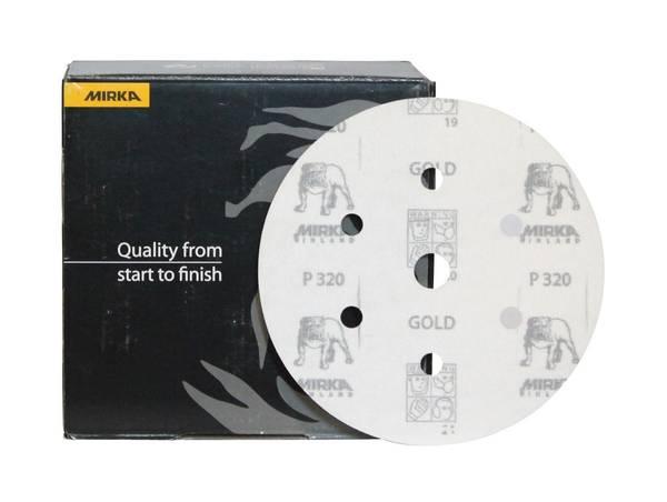 MIRKA Gold P 320  Ø 150 mm 100 Stück 7-Loch
