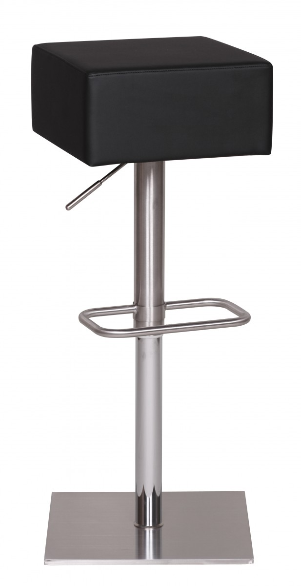 Wohnling Barhocker Wl1 287 Schwarz Edelstahl Hohenverstellbare Sitzflache 66 90 Cm Design Barstuhl Mit Standfuss