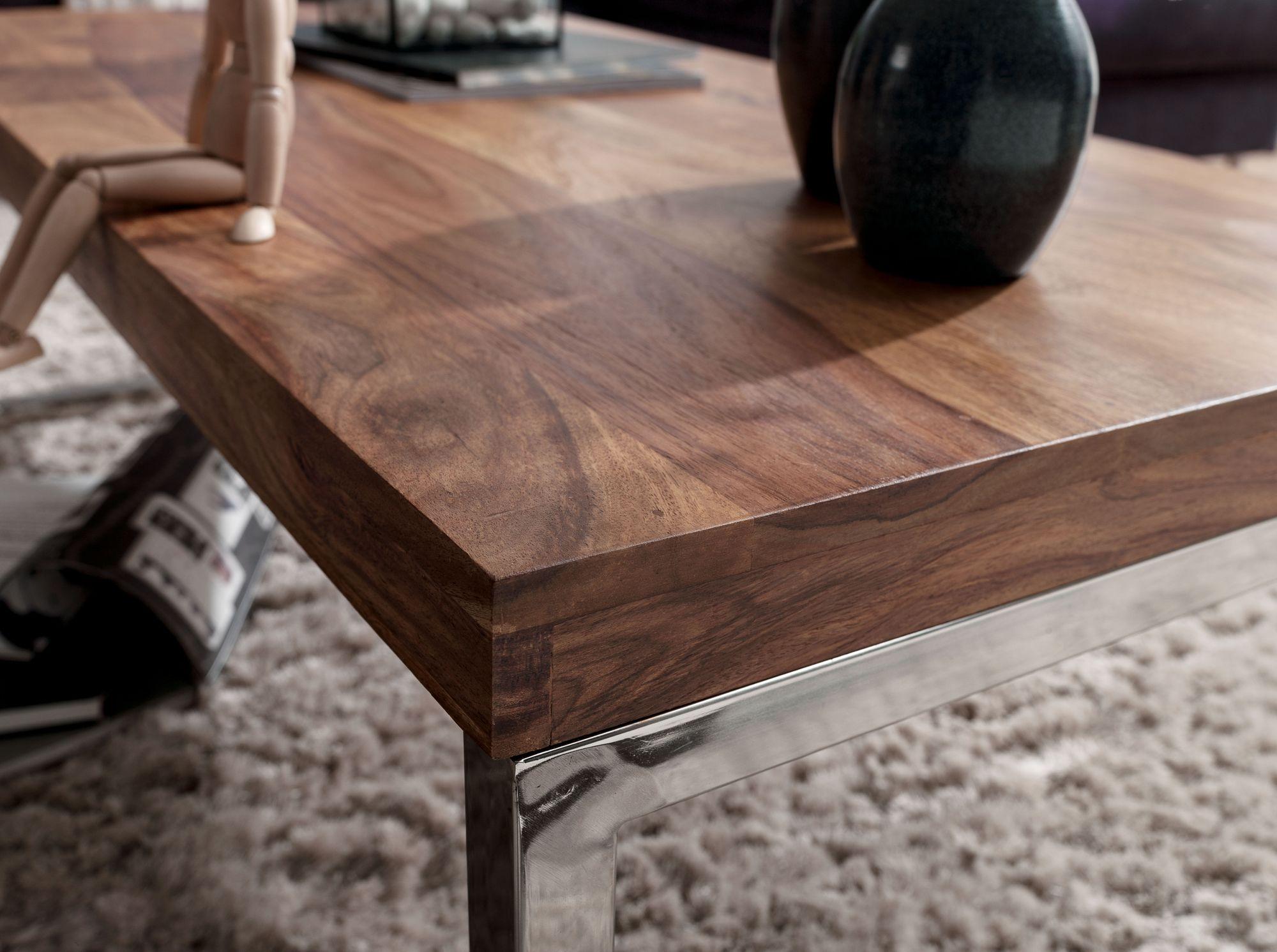 Wohnling Sheesham Couchtisch Guna Massiv 120 X 60 X 40 Cm Wohnzimmer Tisch Mobel Neu