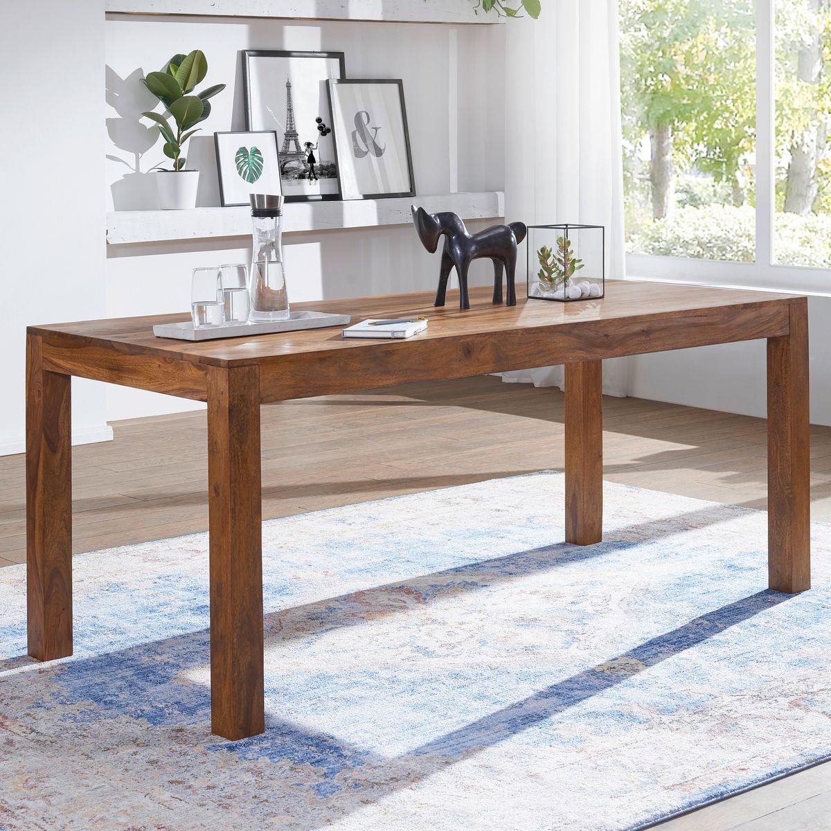 wohnling esstisch mumbai massivholz sheesham 120 cm esszimmer tisch holztisch design k chentisch. Black Bedroom Furniture Sets. Home Design Ideas