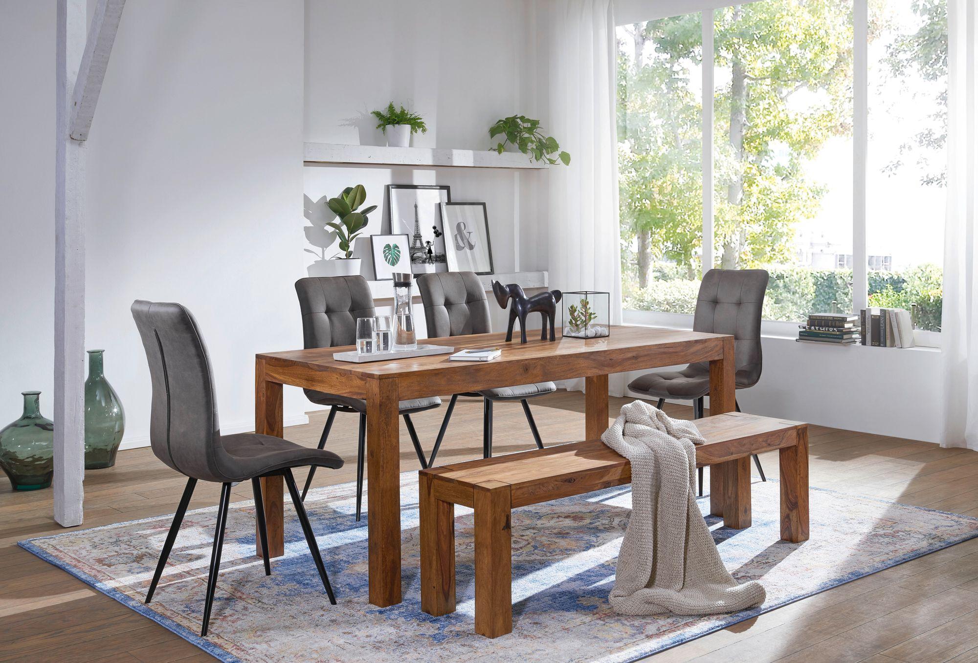 Bon WOHNLING Esstisch MUMBAI Massiv 160 X 80 Cm Massivholz Küchentisch Esszimmer  Tisch Neu