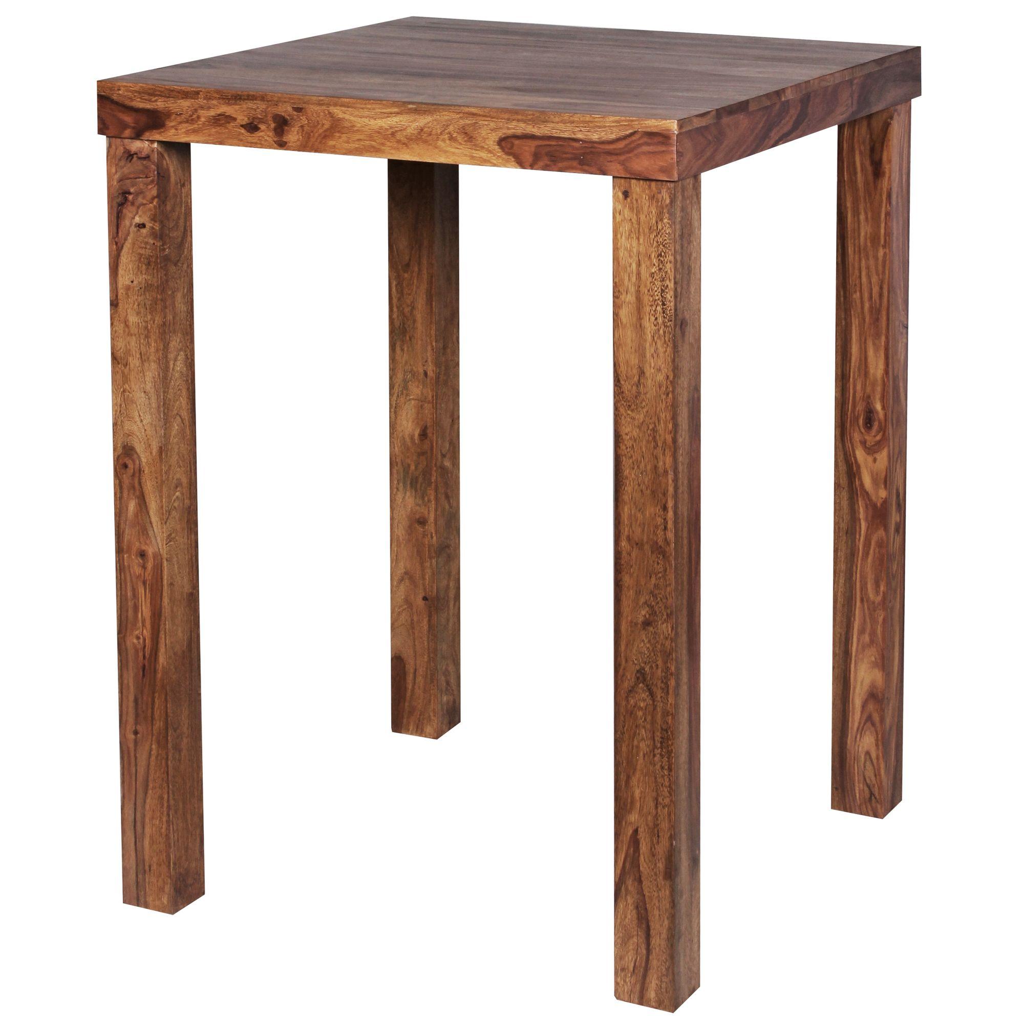 Stehtisch Aus Holzstamm.Wohnling Stehtisch Mumbai Massiv Holz Sheesham Bartisch Bistrotisch 80 X 80cm Tisch Neu