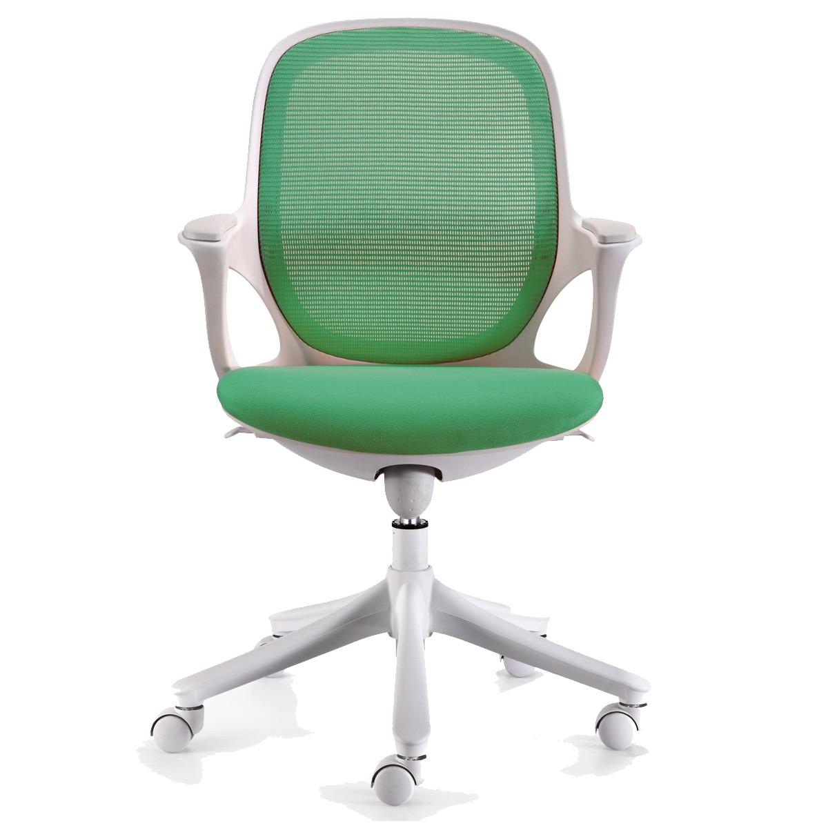 Bürostuhl weiß stoff  Amstyle Bürostuhl MAGLO Grün Stoff Schreibtischstuhl Drehstuhl ...
