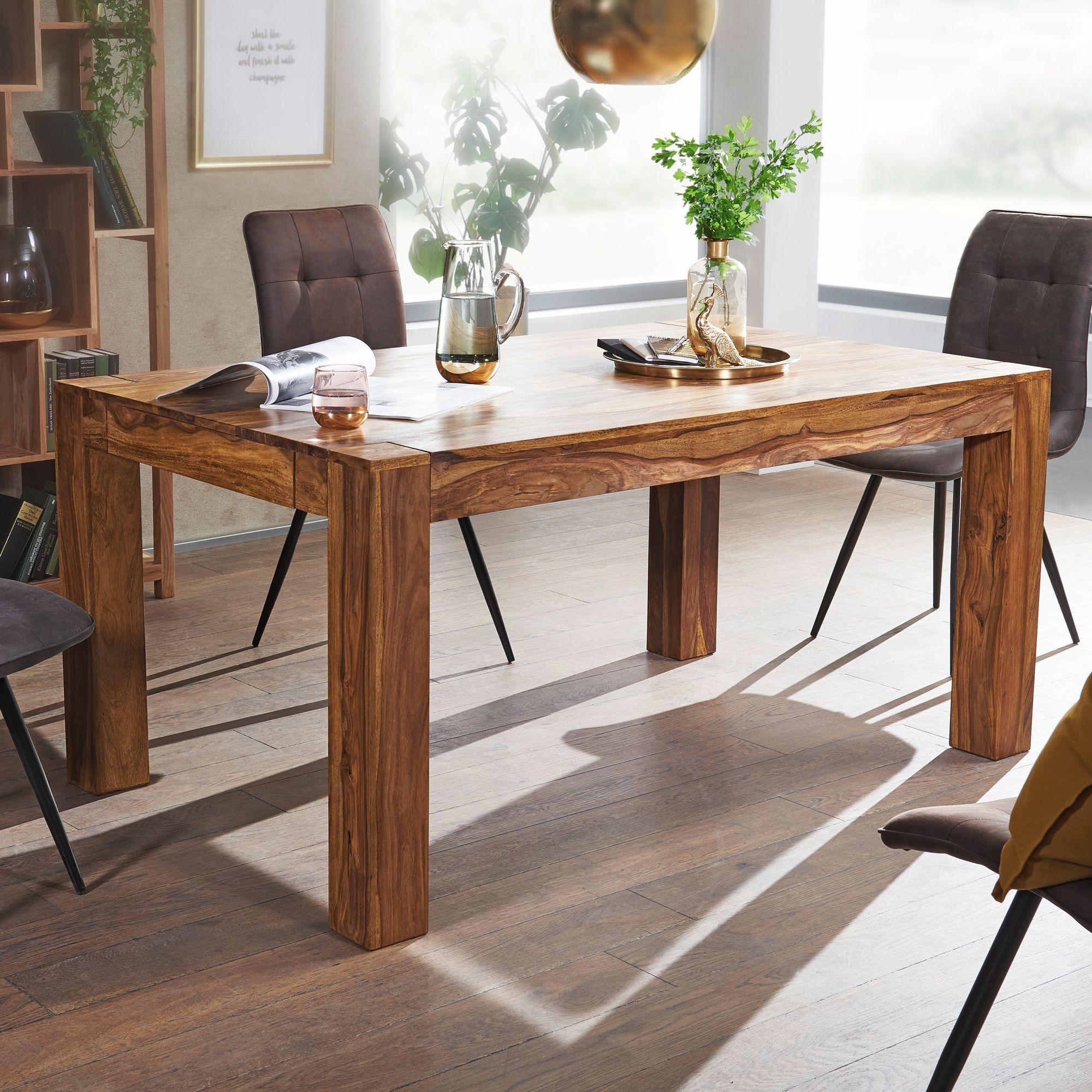 Finebuy Esstisch Massiv 160 240 Cm Ausziehbar Massivholz Esszimmer Tisch Neu Ebay