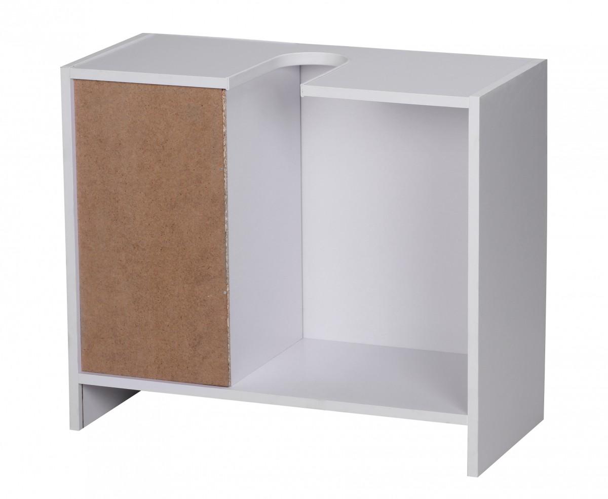 WOHNLING Bad Waschbecken Unterschrank 54 x 63 x 30cm 1 Tür 3 Schubladen  weiß Neu