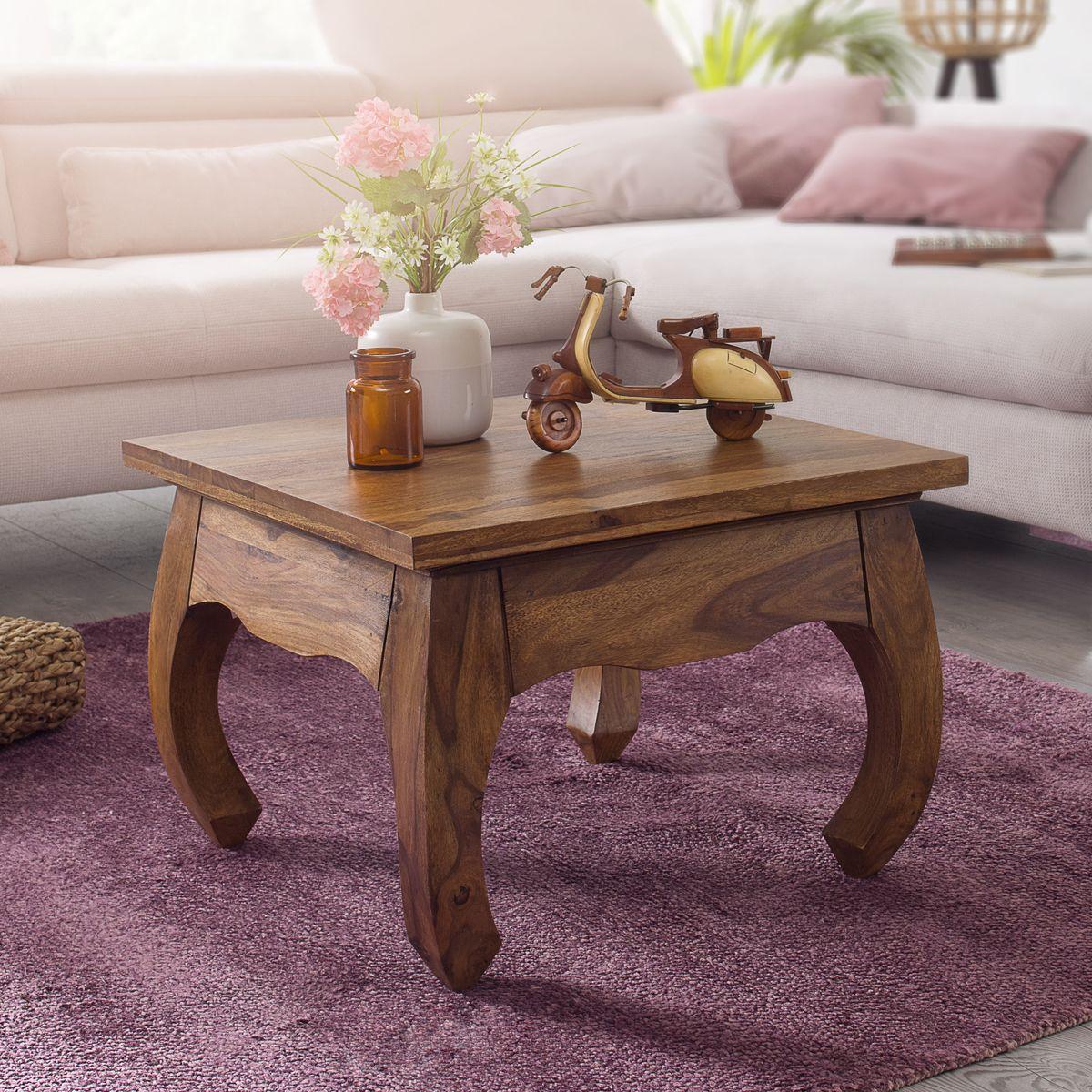 finebuy opium couchtisch jaipur 60 x 40 x 60 cm sheesham. Black Bedroom Furniture Sets. Home Design Ideas