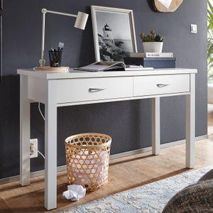 Schreibtisch TED Weiß 2 Schubladen 120cm Schminktisch Konsolentisch  Laptoptisch