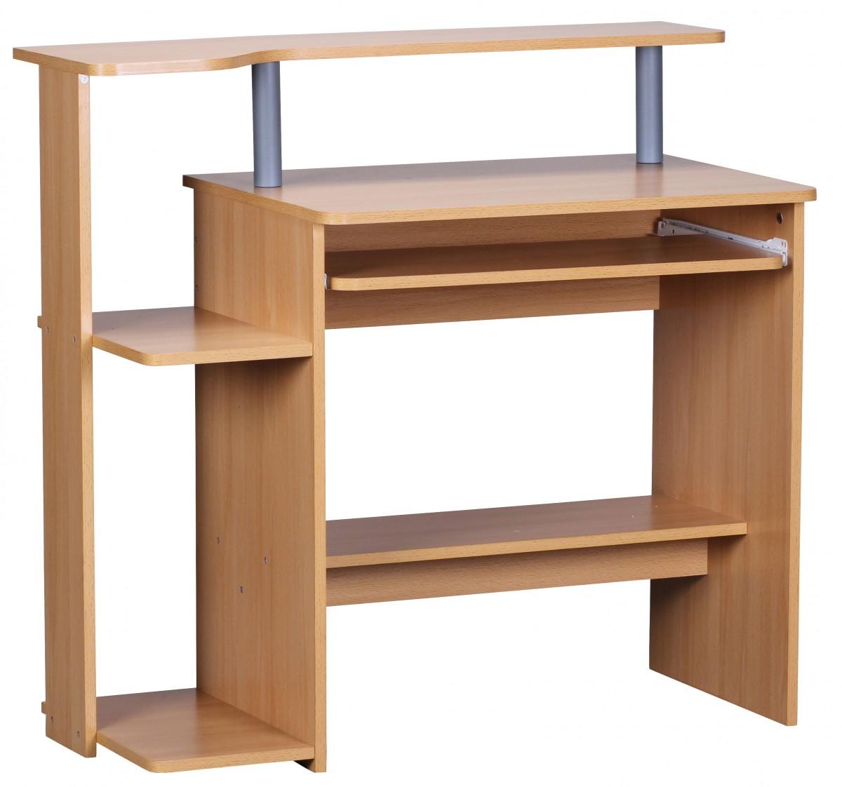 Wohnling Computertisch Wl1163 94 X 90 X 48 Cm Buche Schreibtisch Modern