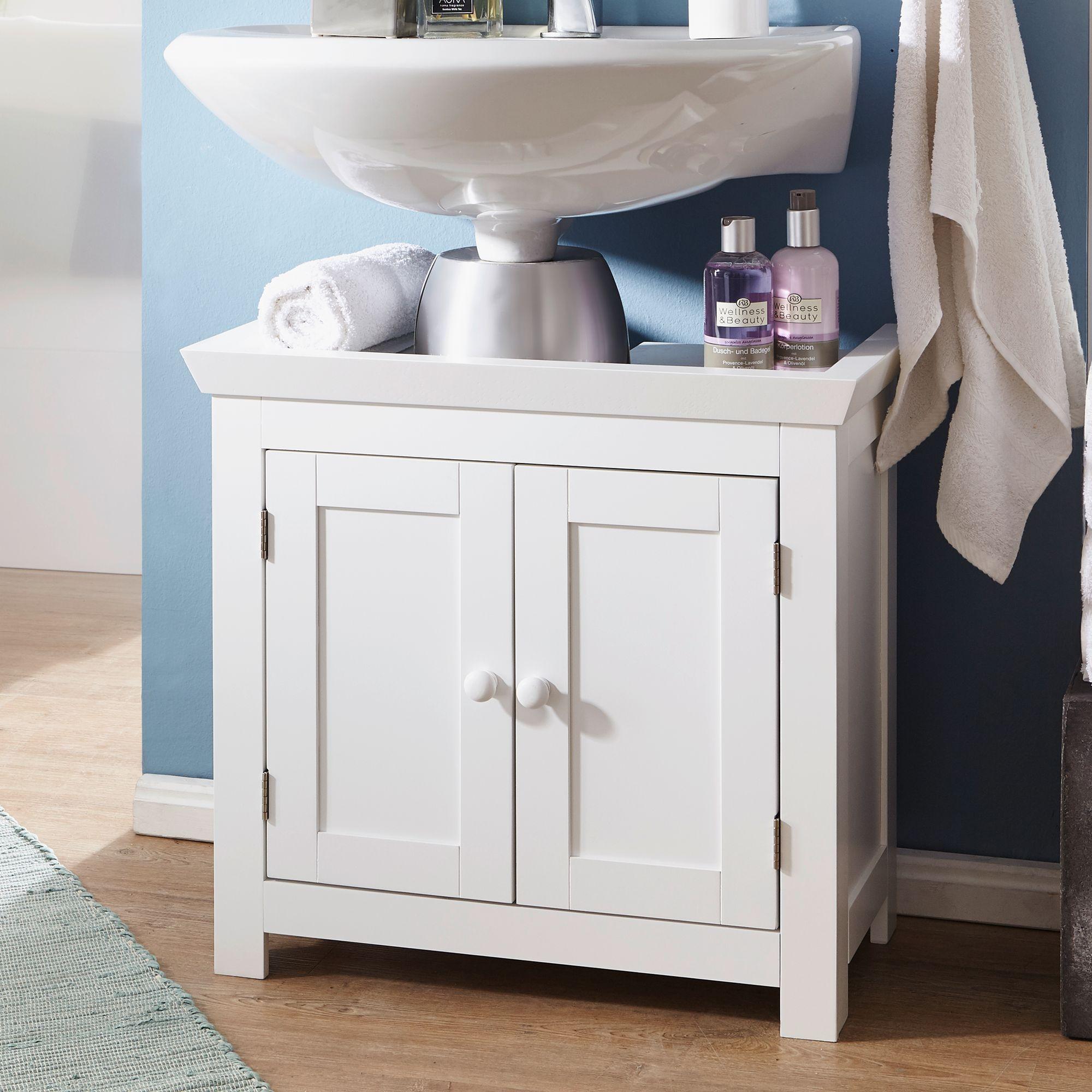 finebuy waschbeckenunterschrank fb37103 unterschrank wei 57 cm badschrank ebay