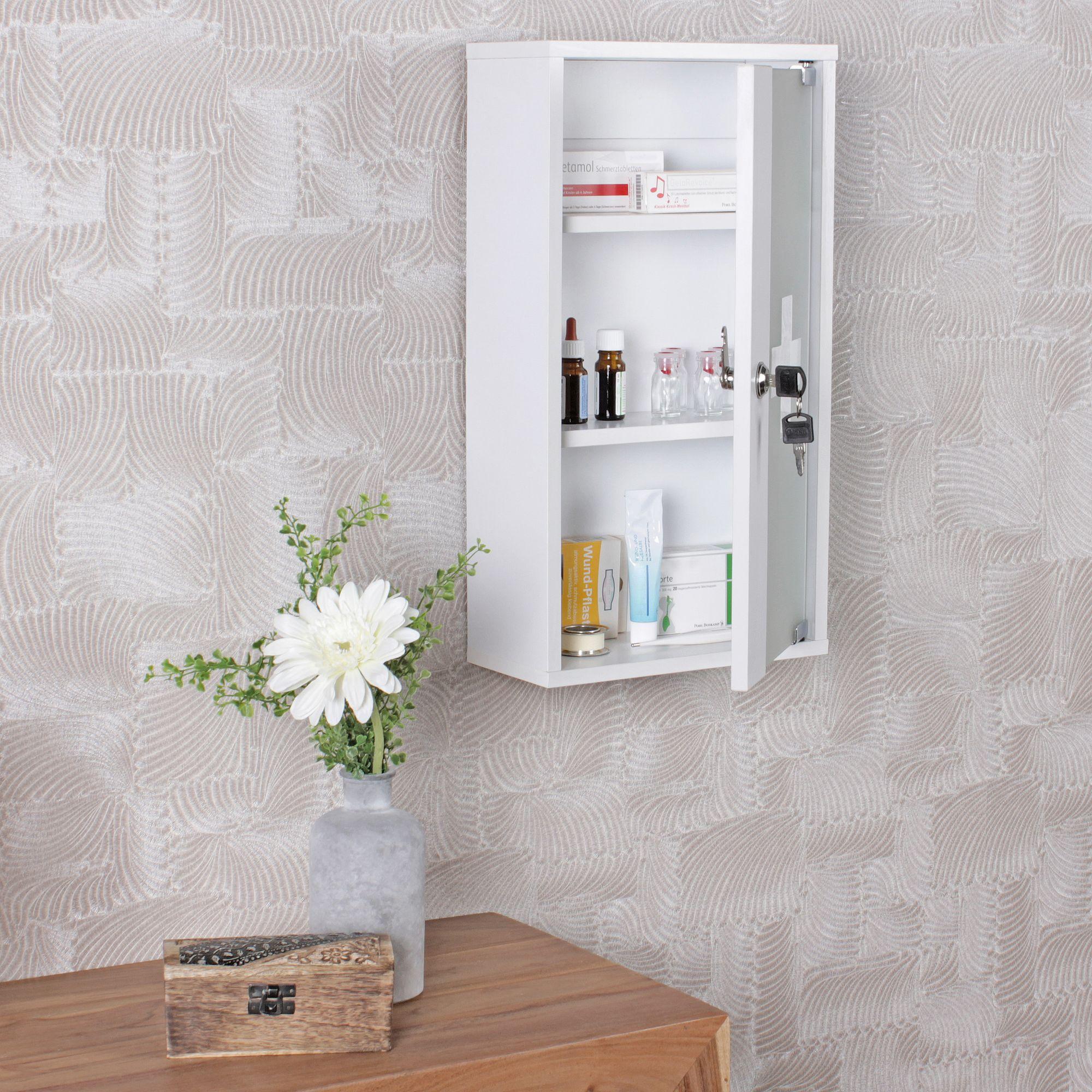 medizinschrank abschlie bar erste hilfe schrank medikamentenschrank hausapotheke ebay. Black Bedroom Furniture Sets. Home Design Ideas