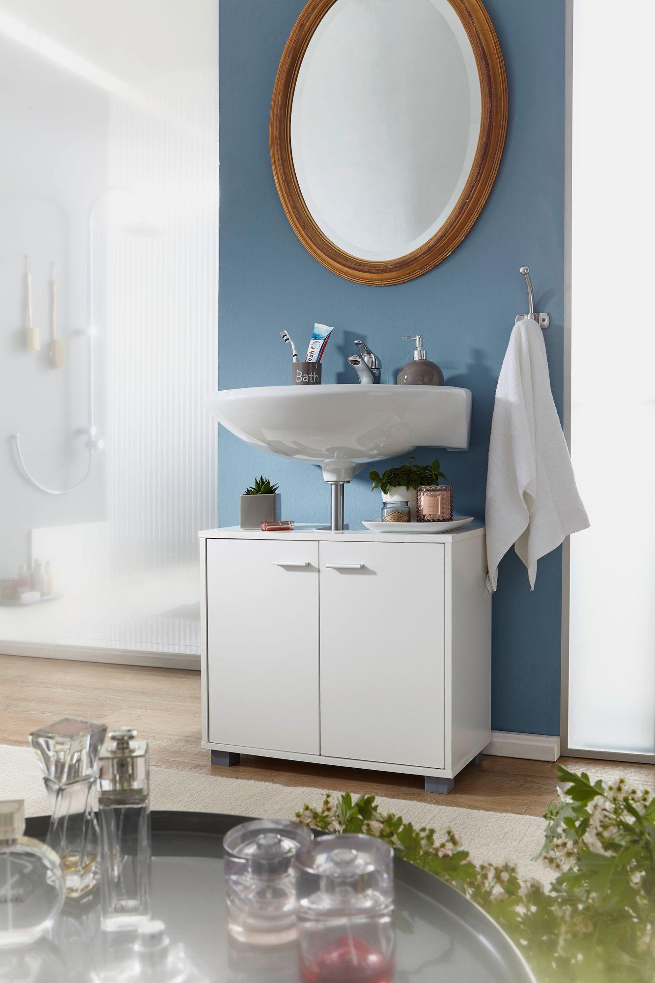 Finebuy Waschbeckenunterschrank Fb37117 Waschtischunterschrank