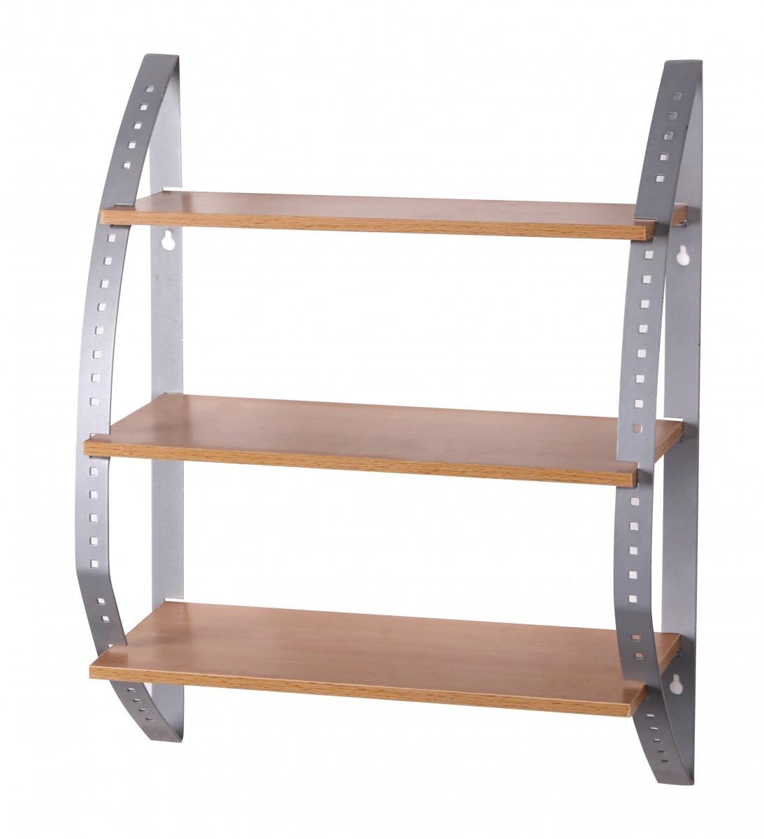 FineBuy Wandregal KITY Holz / Metall mit 3 Böden 40 x 50 x 15 cm ...